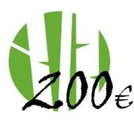 Dāvanu karte 200 Eur vērtībā